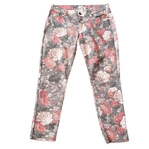 New York & Company Floral Ankle Jeans
